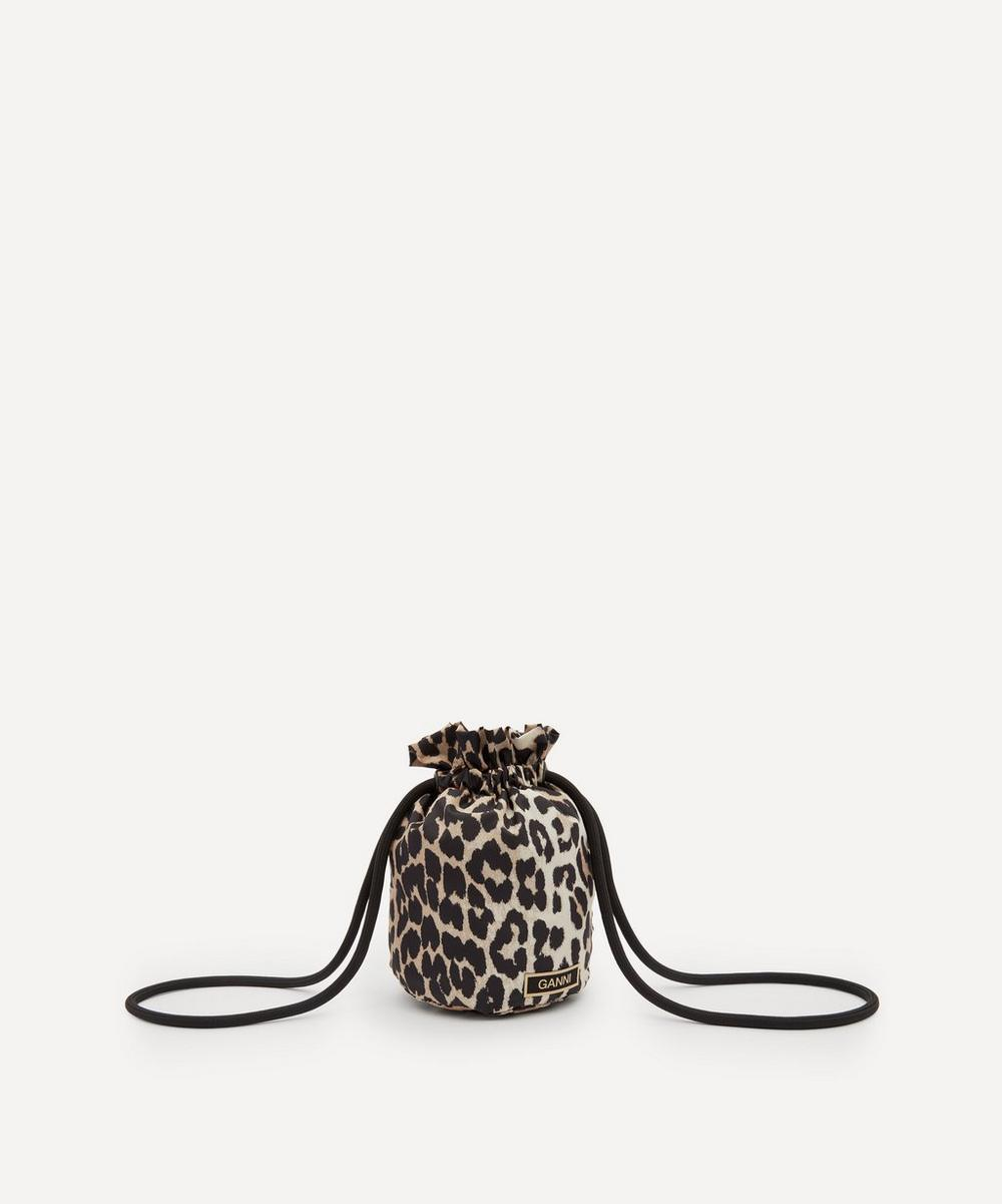 Ganni Bags RECYCLED TECH FABRIC DRAWSTRING POUCH BAG