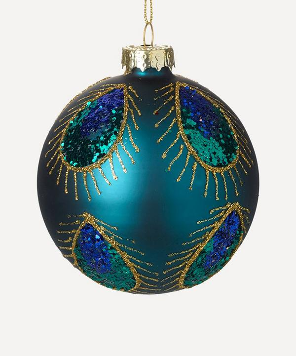Unspecified - Peacock Sequin Glass Bauble
