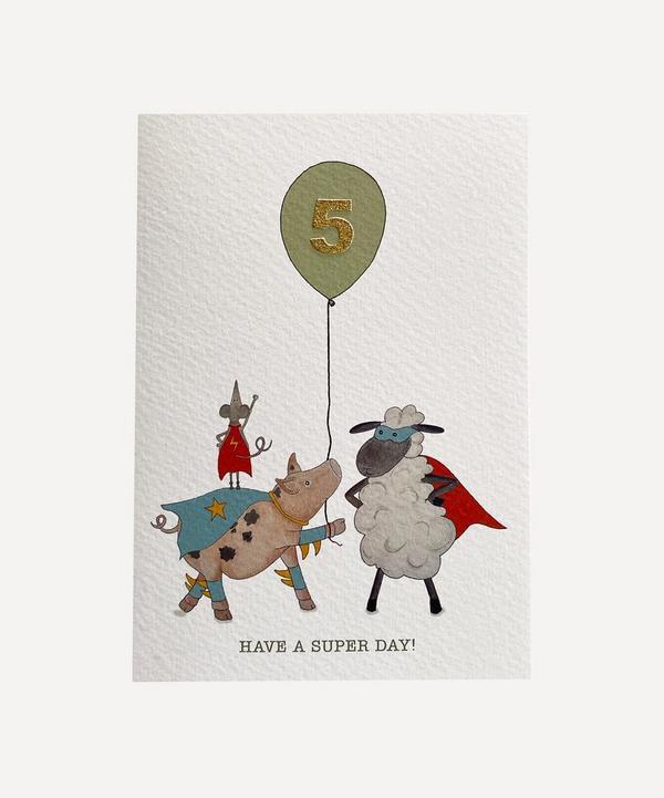 Fearless Flamingo - Sheep Friends Age Five Card