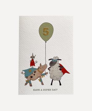 Sheep Friends Age Five Card
