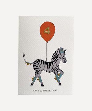 Zebra Age Four Card