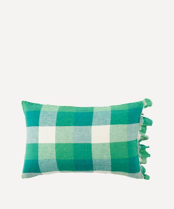 Society of Wanderers - Apple Check Ruffle Pillowcase Set