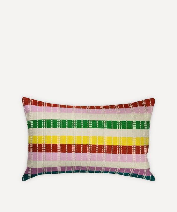 Archive New York - Santiago Rainbow Grid Cushion