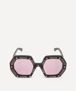 Crystal Logo Octagonal Sunglasses