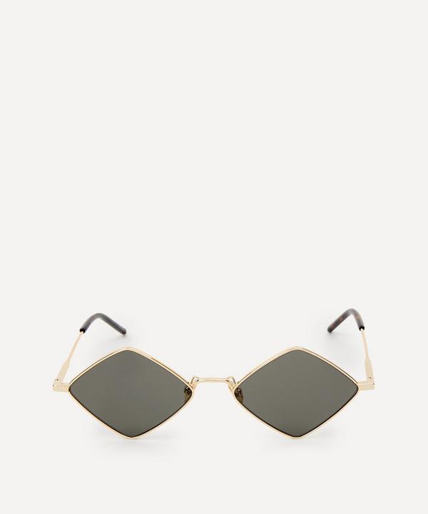 Saint Laurent - Lisa Diamond-Shaped Metal Sunglasses
