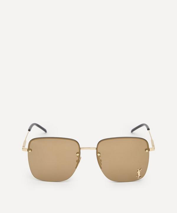 Saint Laurent - Monogram Rimless Square Metal Sunglasses