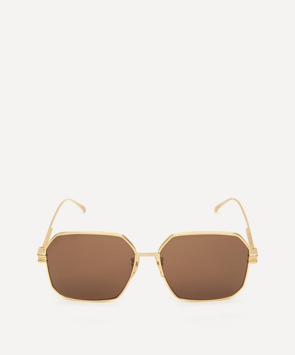 Bottega Veneta Sunglasses SQUARE METAL SUNGLASSES