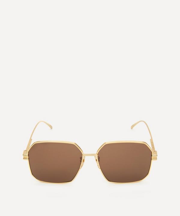 Bottega Veneta - Square Metal Sunglasses
