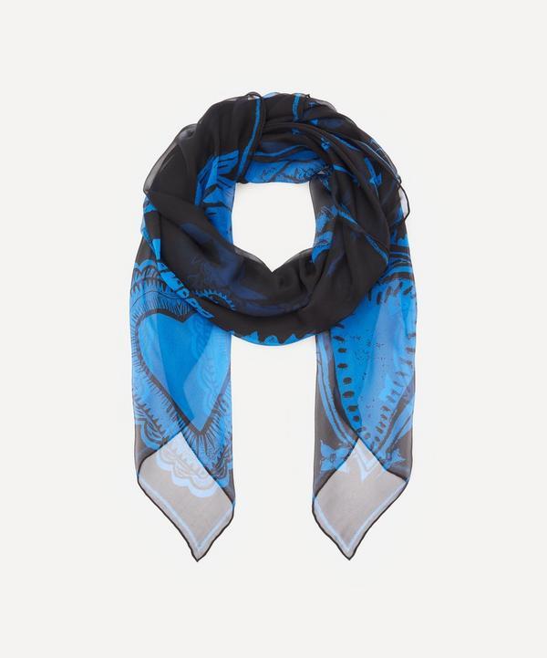 Alexander McQueen - Papercut Skull Silk Chiffon Scarf