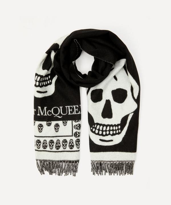 Alexander McQueen - Oversized Skull Wool Scarf