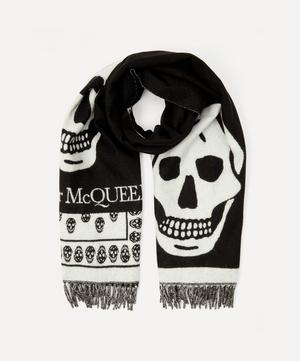 Oversized Skull Wool Scarf