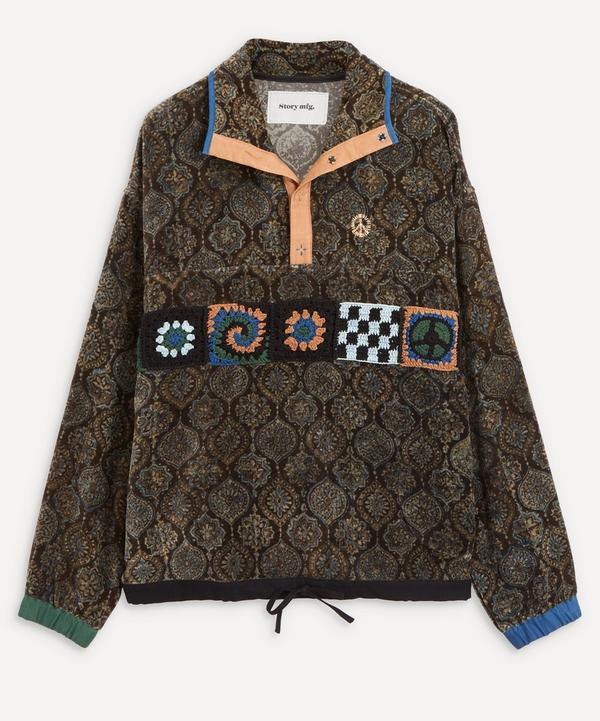 STORY mfg. - Polite Crochet Block Velvet Pullover