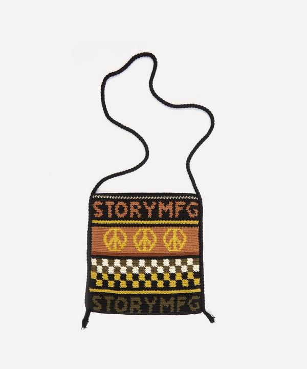 STORY mfg. - Stash Peace Power Hand Crochet Cross-Body Bag