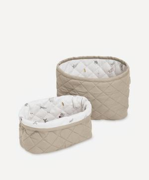 Quilted Storage Basket Set of Two