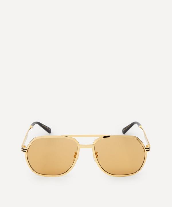 Gucci - 60 Metal Aviator Sunglasses