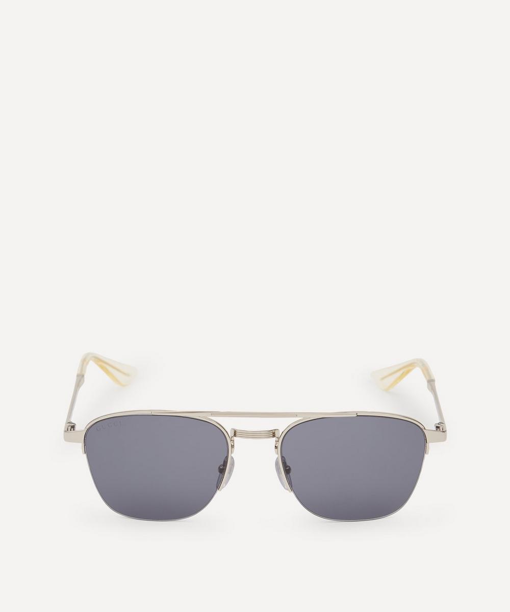 Gucci - 50 Metal Aviator Sunglasses