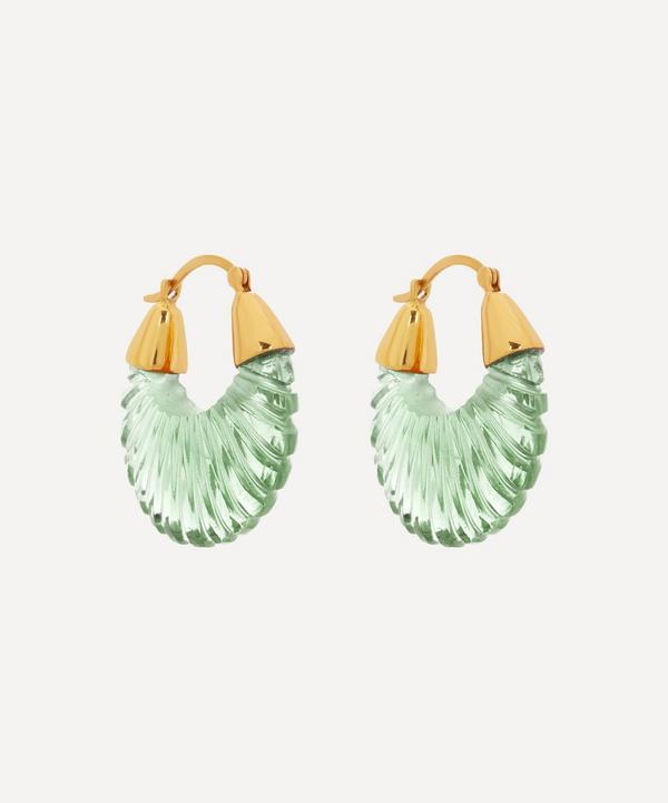 Shyla - Gold-Plated Etienne Glass Hoop Earrings