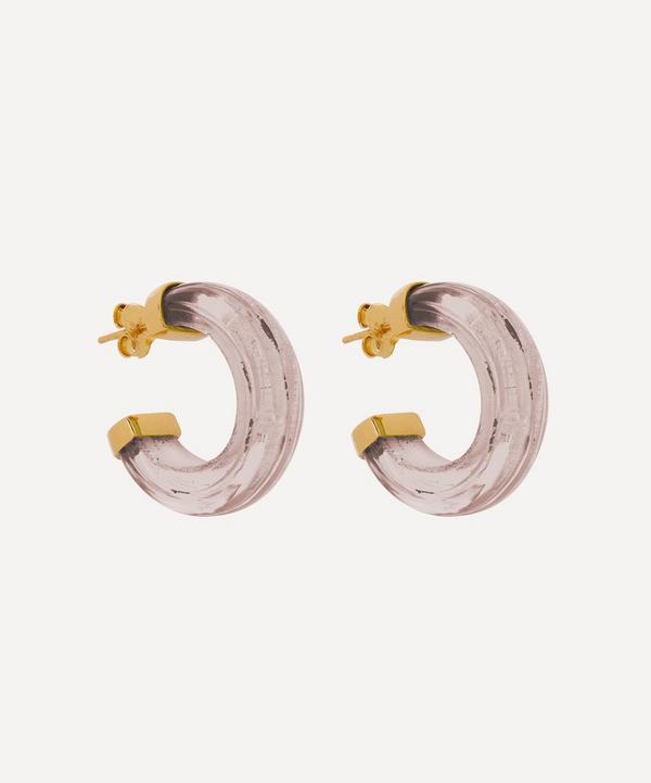 Shyla - Gold-Plated Nairobi Glass Hoop Earrings