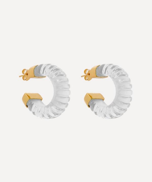 Shyla - Gold-Plated Esme Glass Hoop Earrings