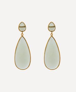 Gold-Plated Nancy Glass Stone Drop Earrings