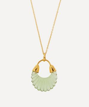 Gold-Plated Etienne Glass Pendant Necklace