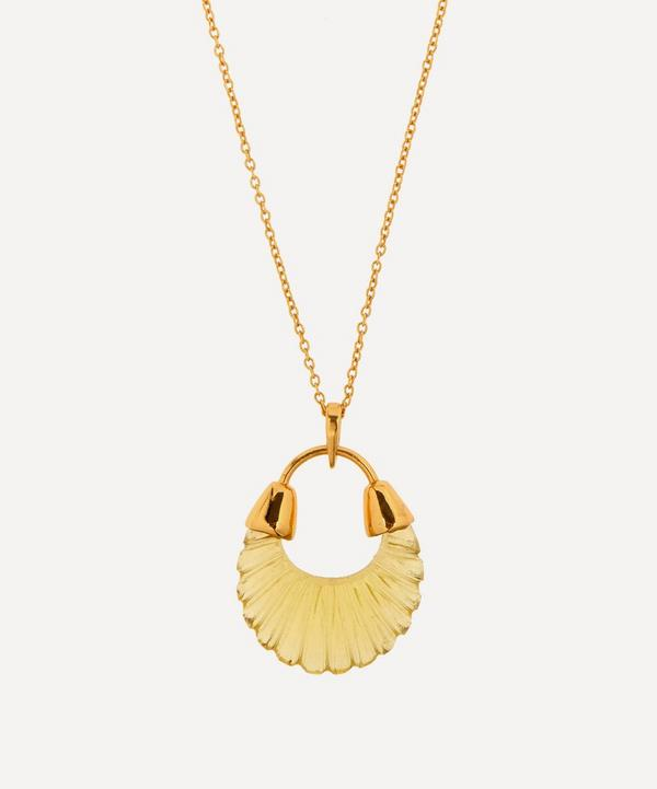 Shyla - Gold-Plated Etienne Glass Pendant Necklace
