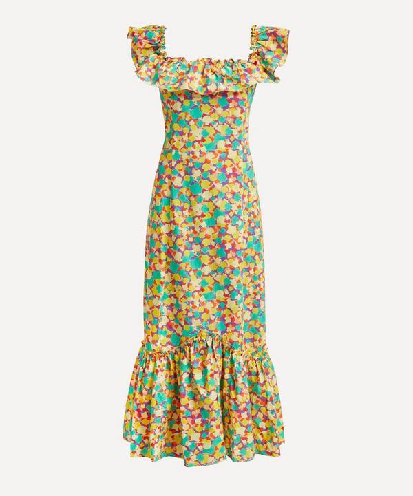 RIXO - June Square-Neck Ruffle Dress