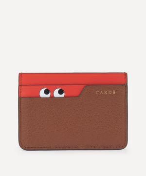 Peeping Eyes Leather Card Case