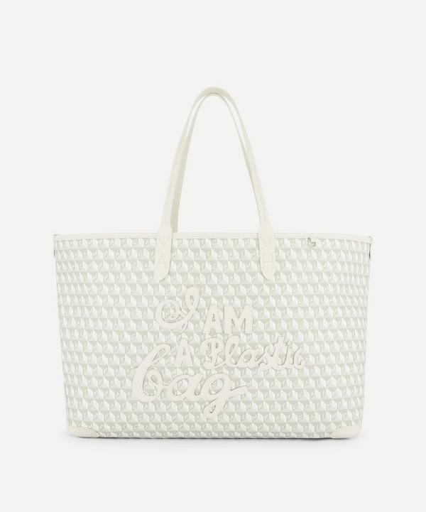 Anya Hindmarch - I Am A Plastic Bag Motif Recycled Coated Canvas Tote Bag