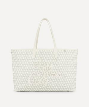 I Am A Plastic Bag Motif Recycled Coated Canvas Tote Bag