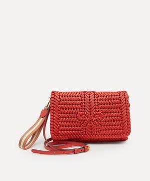Neeson Woven Leather Cross-Body Bag