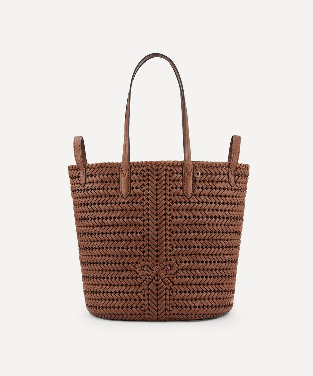 Anya Hindmarch - Small Neeson Woven Leather Two-Way Tote Bag
