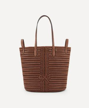 Small Neeson Woven Leather Two-Way Tote Bag