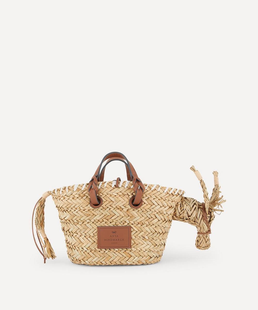 Anya Hindmarch - Small Donkey Woven Seagrass Basket Bag