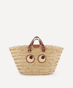 Large Paper Eyes Woven Seagrass Basket Bag