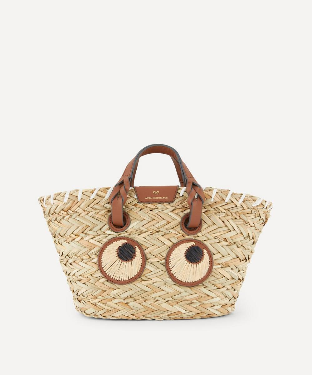 Anya Hindmarch - Small Paper Eyes Woven Seagrass Basket Bag