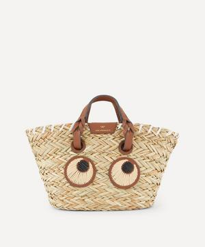 Small Paper Eyes Woven Seagrass Basket Bag