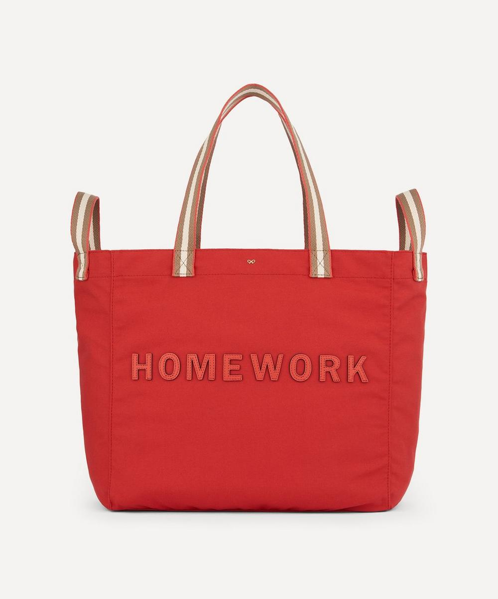 Anya Hindmarch - Homework Household Recycled Canvas Tote Bag