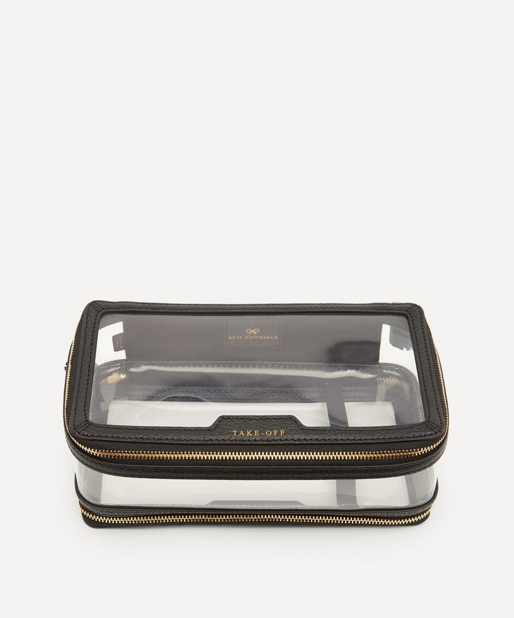 Anya Hindmarch - In-Flight Clear Plastic and Leather Travel Case
