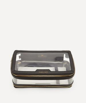 In-Flight Clear Plastic and Leather Travel Case