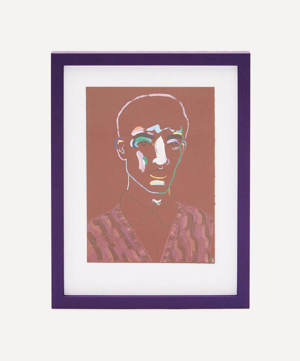Robson Stannard - Crimson Boy in Prada Original Framed Painting