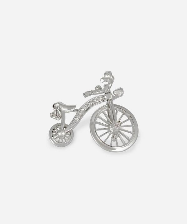Kojis - 14ct White Gold Diamond Bicycle Brooch