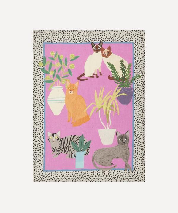 Avenida Home - Cats Linen Tea Towel