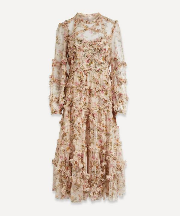 Needle & Thread - Garland Floral-Print Tulle Gown