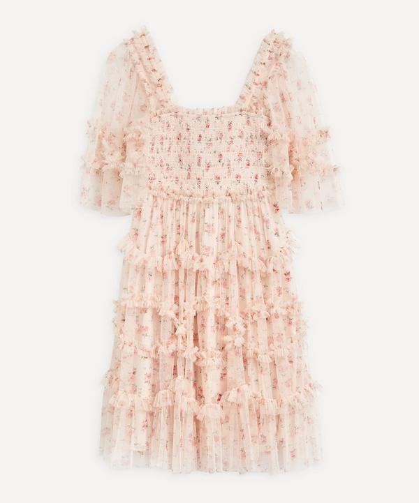 Needle & Thread - Bijou Rose Smocked Mini-Dress