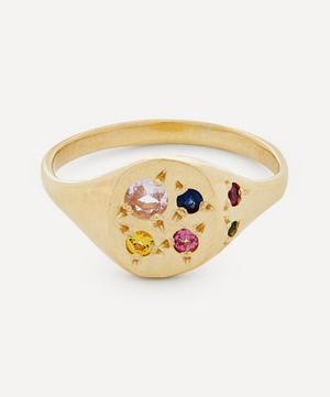 9ct Gold Neapolitan Multi-Stone Signet Ring