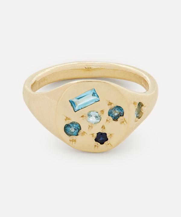 Seb Brown - 9ct Gold Blue Moon Multi-Stone Signet Ring