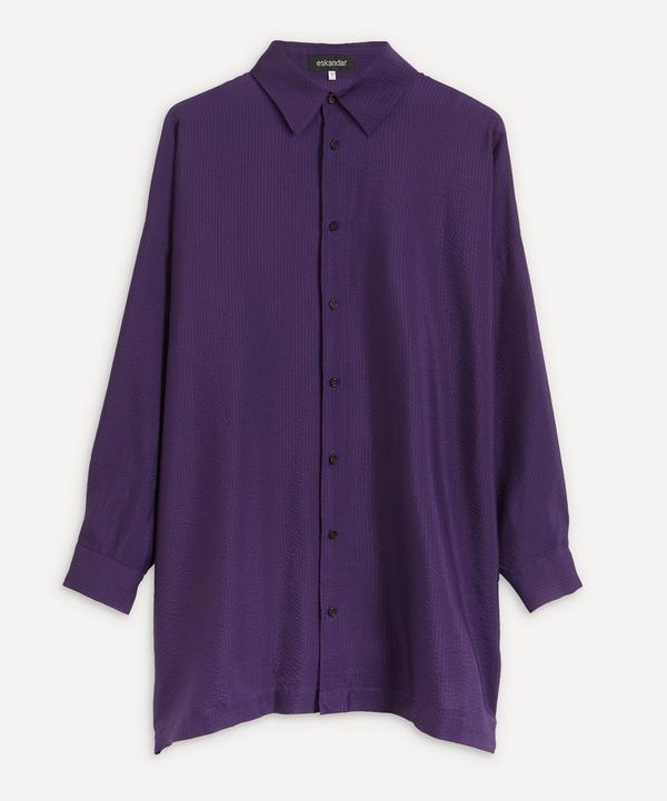 Eskandar - Longline Collared Shirt