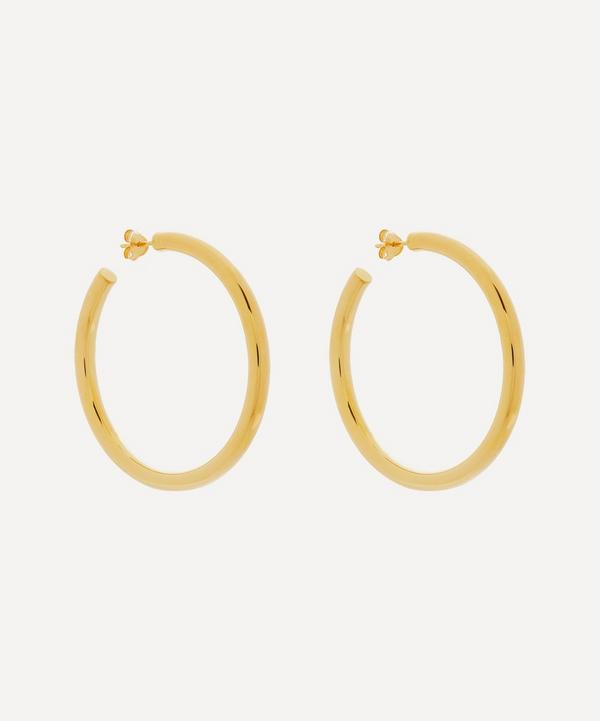 Otiumberg - 14ct Gold Plated Vermeil Silver Large Chunky Hoop Earrings