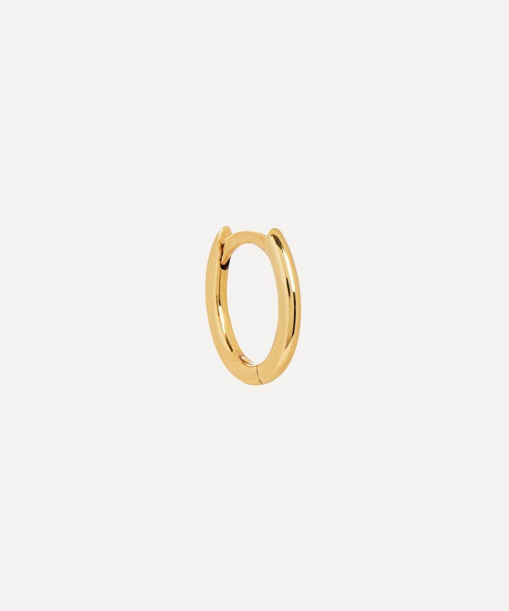 Otiumberg - 9ct Gold Single Mini Oval Hoop Earring